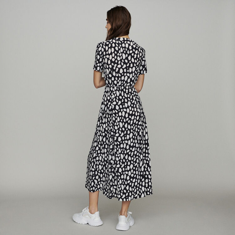 Long printed dress : Dresses color Printed