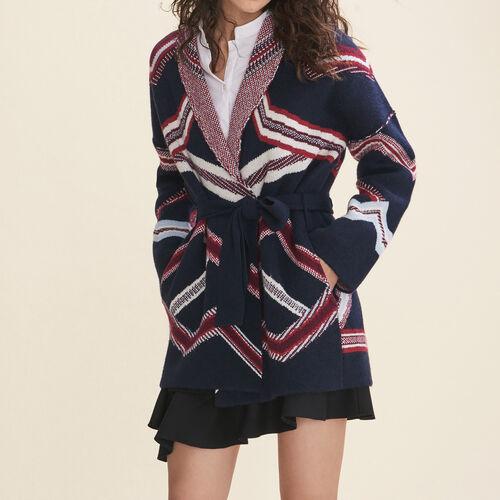 Jacquard cardigan - Knitwear - MAJE