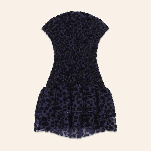 Leopard-print strapless dress - Dresses - MAJE