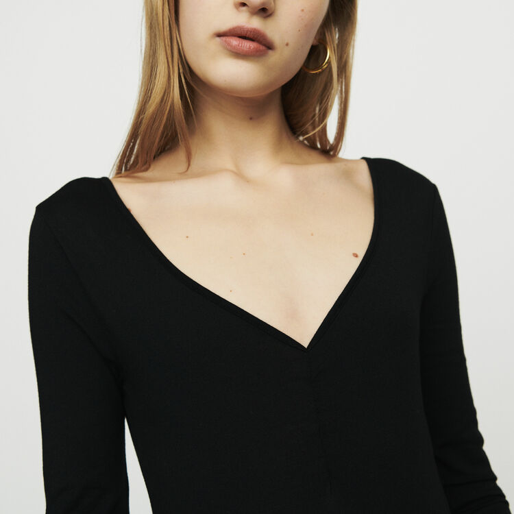 Long sleeve bodysuit : T-Shirts color Black 210