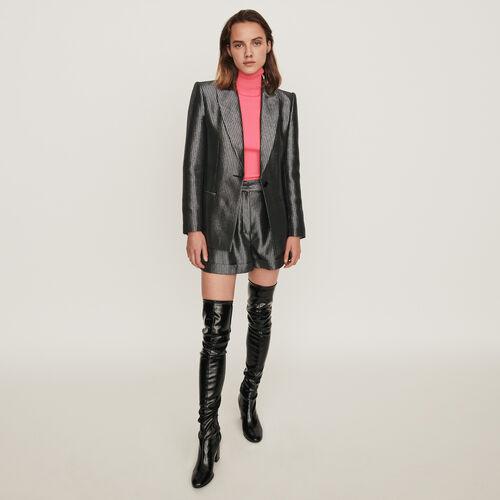 Lurex jacket : Blazers color Silver