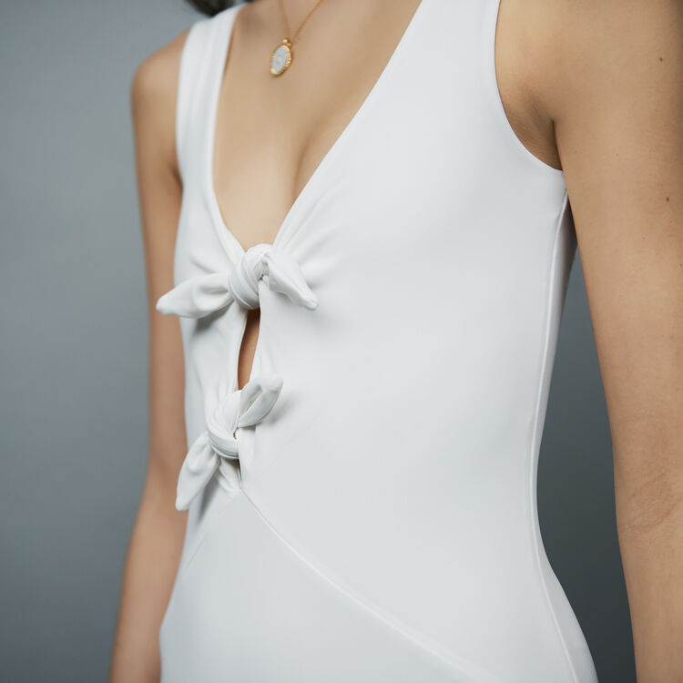 Bodysuit with bows : See all color WHITE