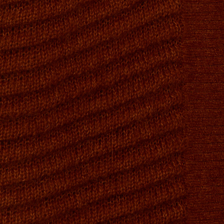 Mohair cardigan in alpaca blend : Knitwear color Caramel