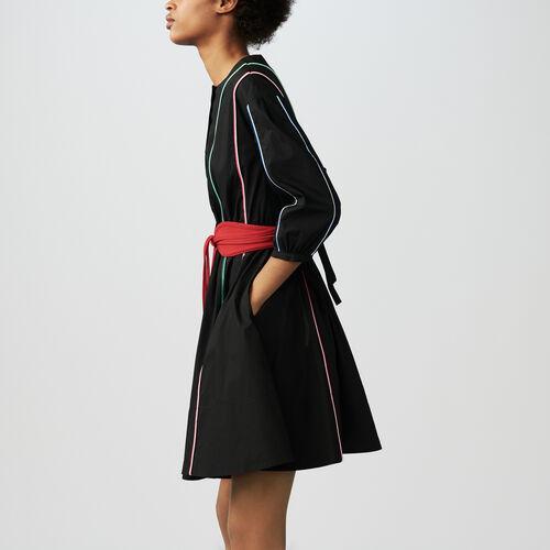 Belted dress : See all color Black 210