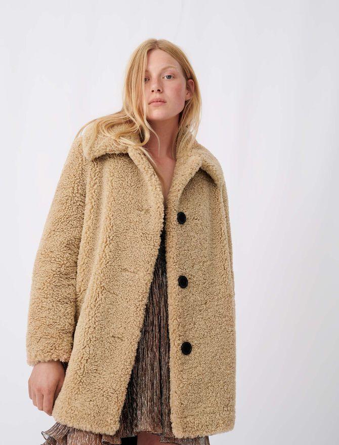 Fur-effect coat - tout - MAJE
