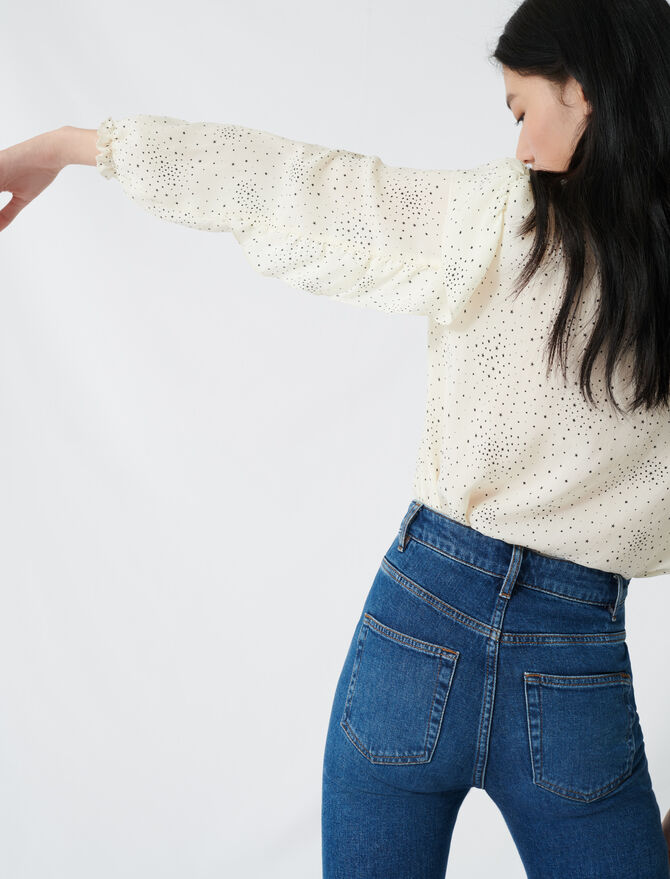 Floaty blouse with romantic ruffles -  - MAJE