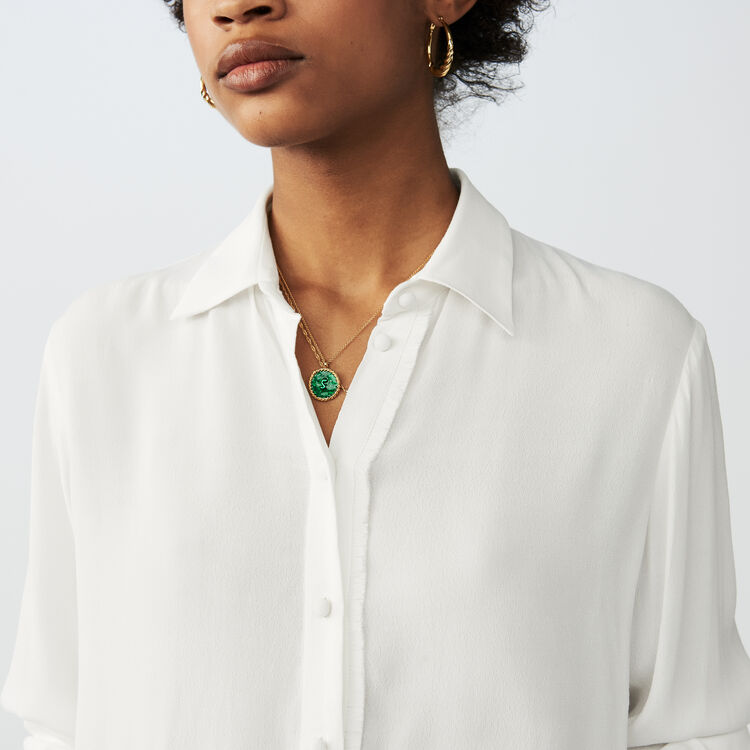 Flowing long-sleeved shirt : Shirts color Ecru