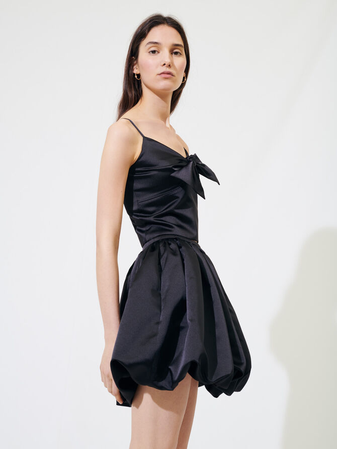 Satin puff mini skirt - Skirts & Shorts - MAJE