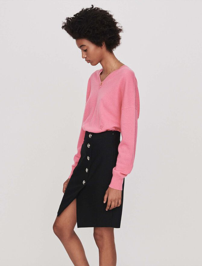 Pencil skirt with buttons - -30% - MAJE