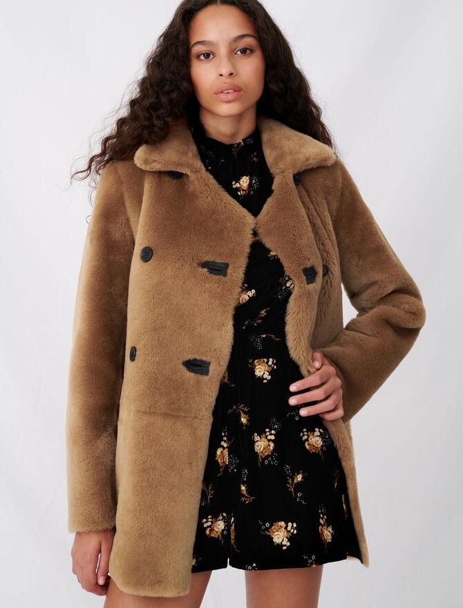 Reversible shearling coat - Coats & Jackets - MAJE