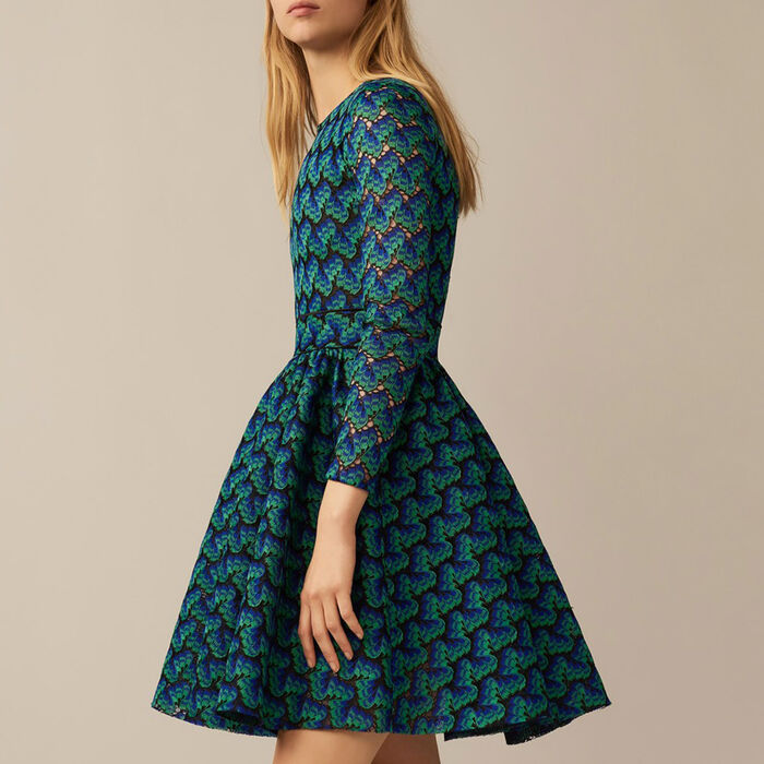 Bonded lace dress : null color Multico