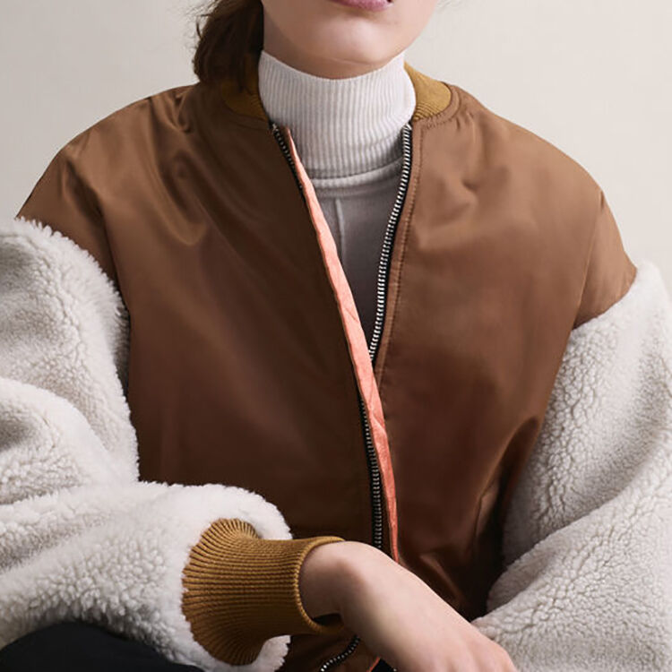 Sheepskin jacket : Jackets & Blazers color Caramel