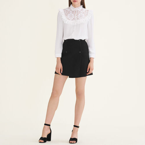 Wraparound skirt : Skirts & Shorts color Black 210