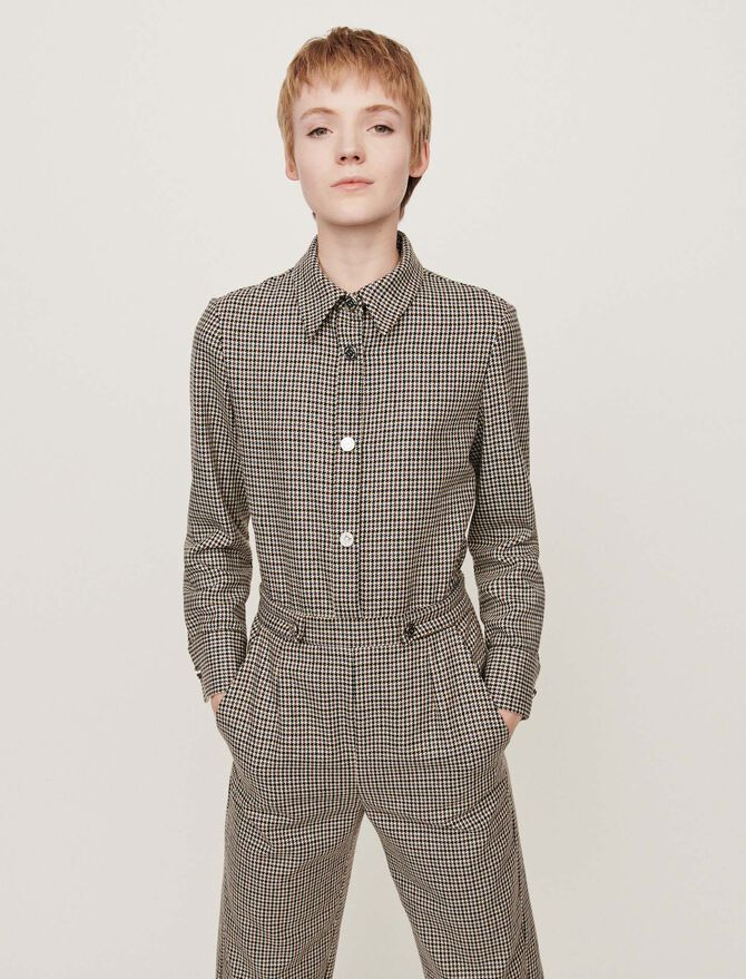 Checkered jumpsuit -  - MAJE