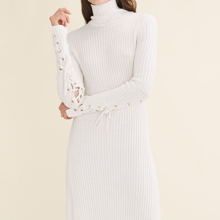 Long tube-knit dress -  - MAJE