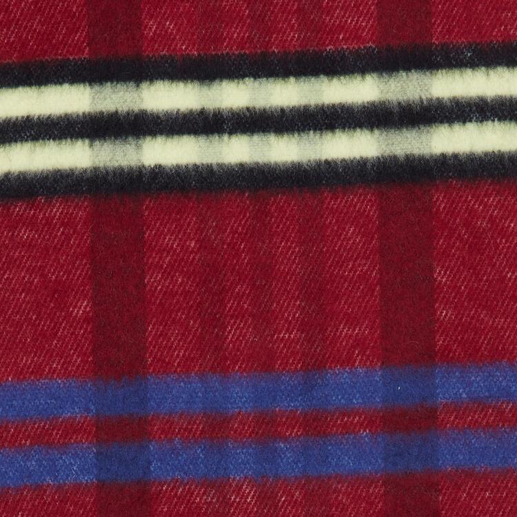 Plaid knit scarf : Shawls & Ponchos color Burgundy