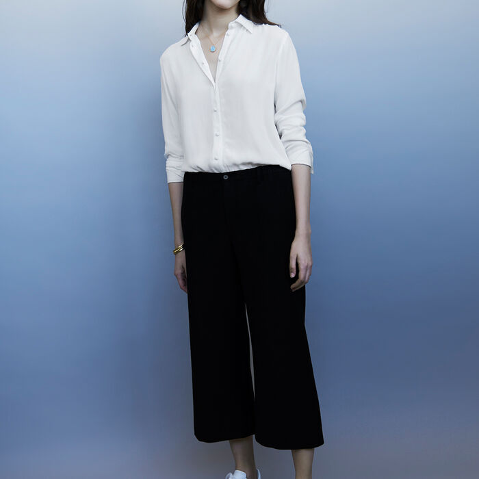 Wide-legged trousers : Trousers color Black 210