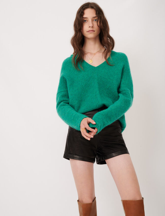 V-neck marl sweater - Pullovers & Cardigans - MAJE
