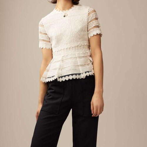 Contoured lace top : Tops color ECRU