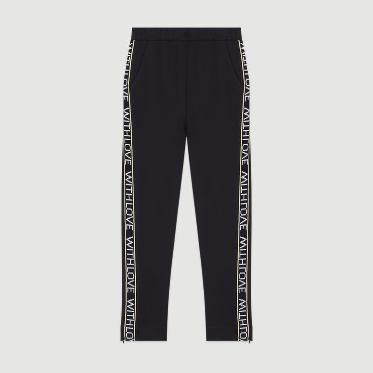 Jogging pants with elastic waist : Trousers color Black 210