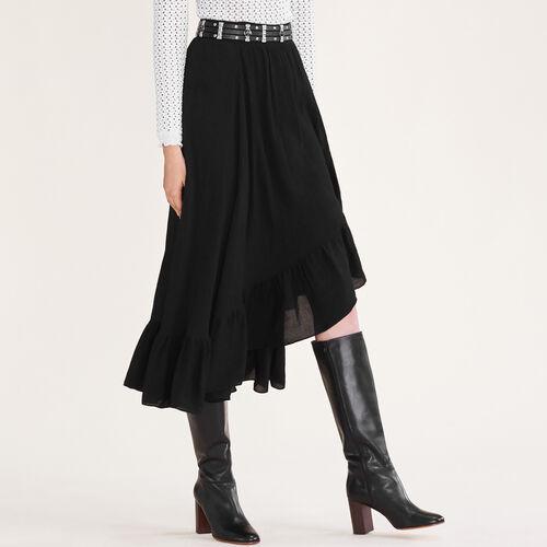 Asymmetric frilled skirt - Skirts & Shorts - MAJE