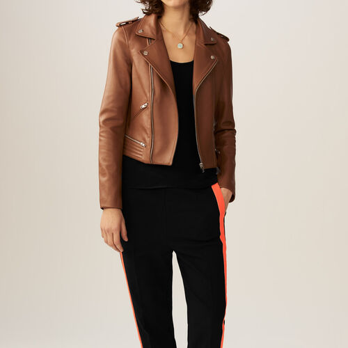 Leather jacket    : Jackets color Black 210