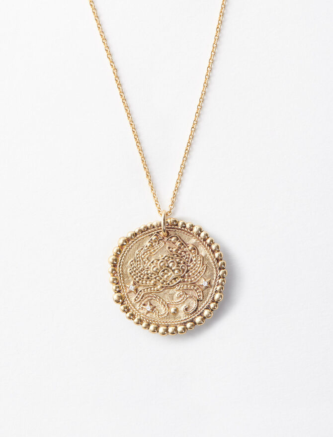 Cancer zodiac sign necklace -  - MAJE