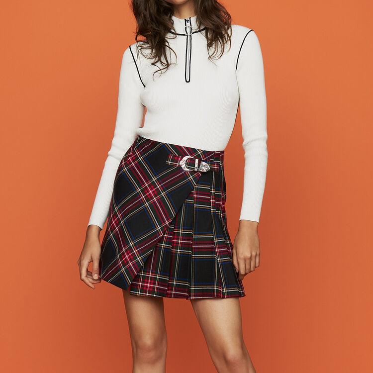 Plaid kilt skirt : Skirts & Shorts color CARREAUX