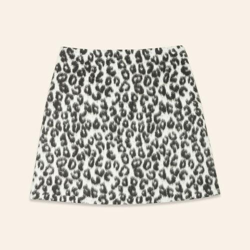 Leopard-print A-line skirt : Skirts & Shorts color Print