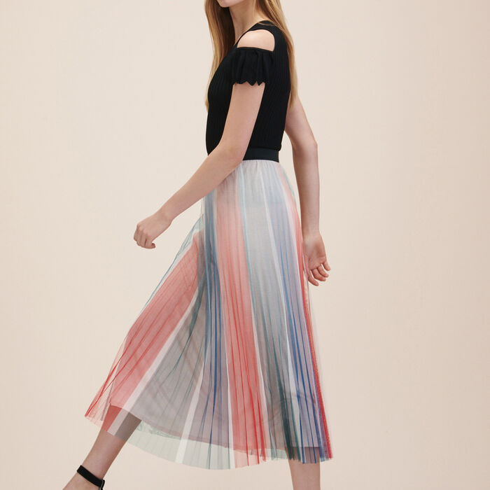 Pleated midi skirt : Low Prices color Print