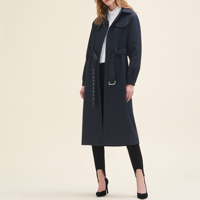 Long wool coat : Coats color Night