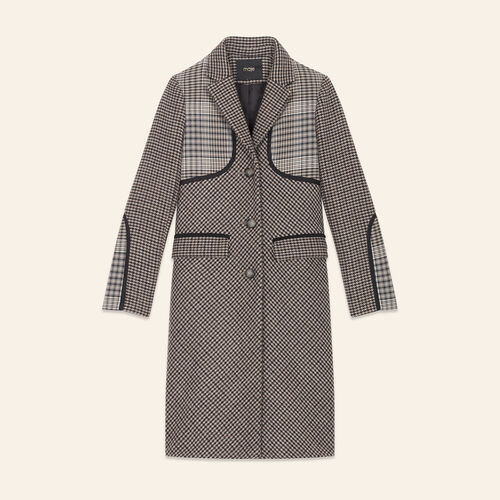 Checked coat - Coats - MAJE
