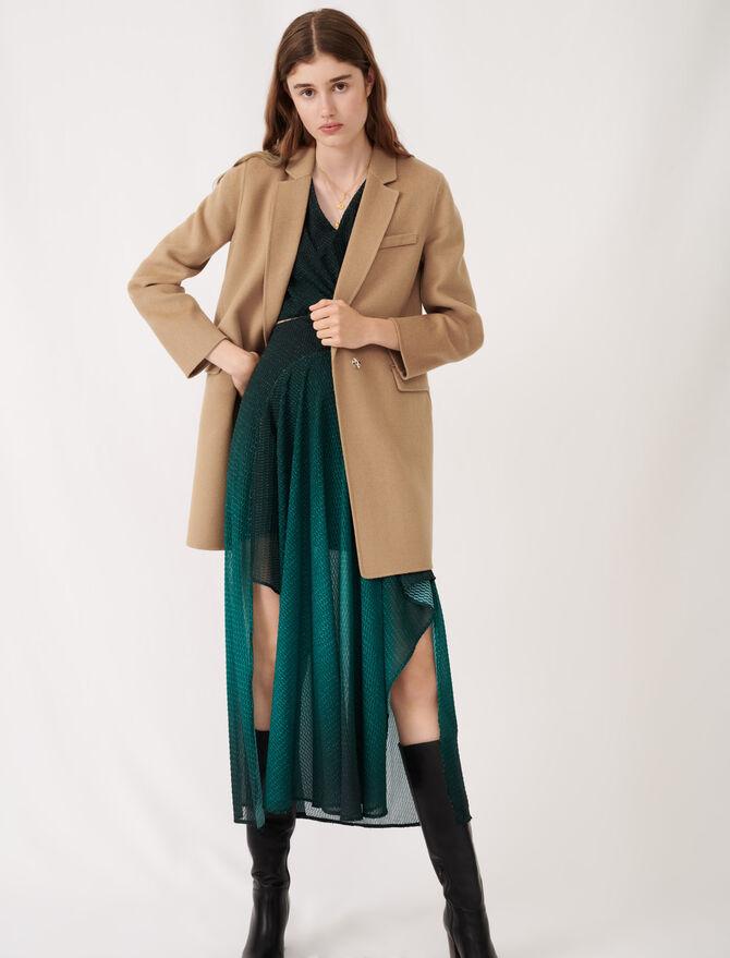 Jacket-style double sided camel coat - Eco-friendly - MAJE