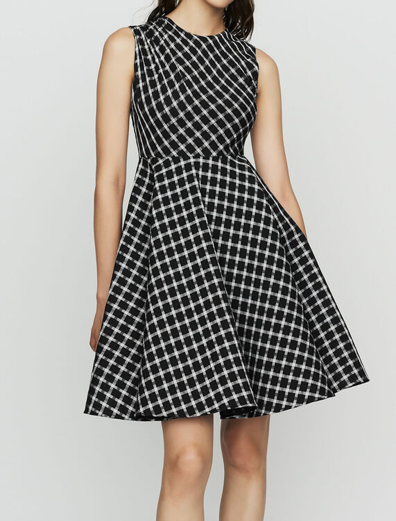 Sleeveless plaid skater dress : New Collection color CARREAUX
