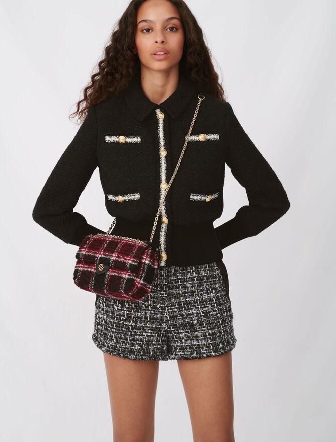 Contrasting tweed-style jacket - Blazers - MAJE