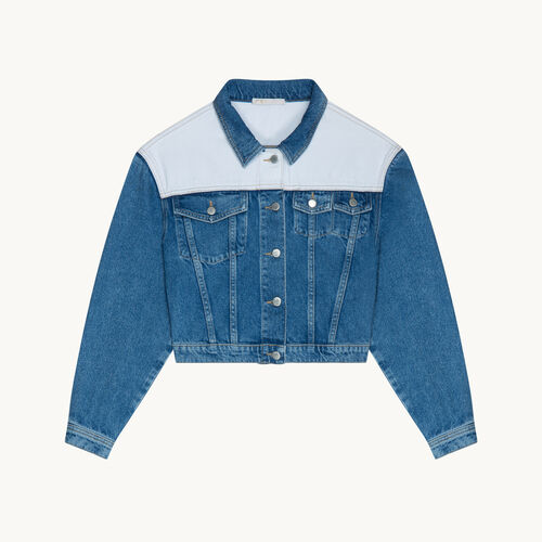 Two-tone denim jacket - null - MAJE