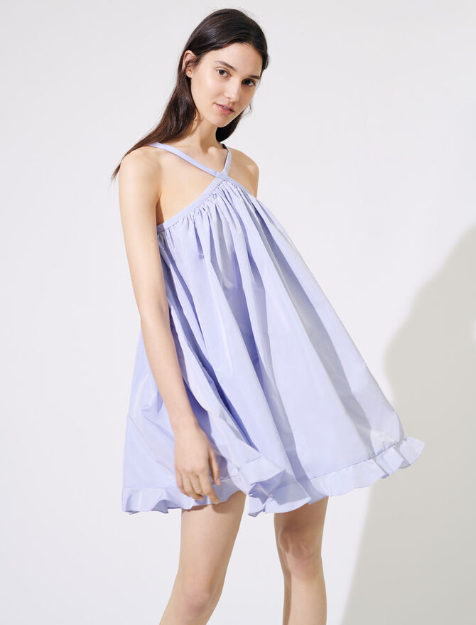 Taffeta baby-doll dress - Dresses - MAJE