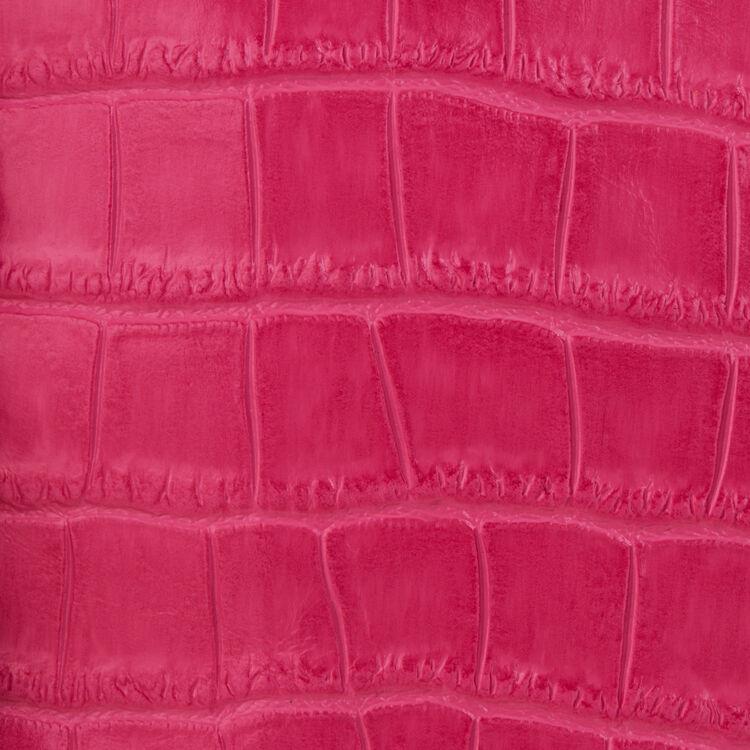 Mini M bag with crocodile fringe : Leather color Pink