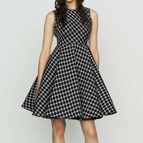 Sleeveless plaid skater dress : Ready to wear color CARREAUX