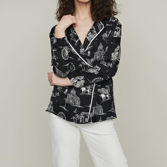 Shirt with Paris print : Shirts color BLACK