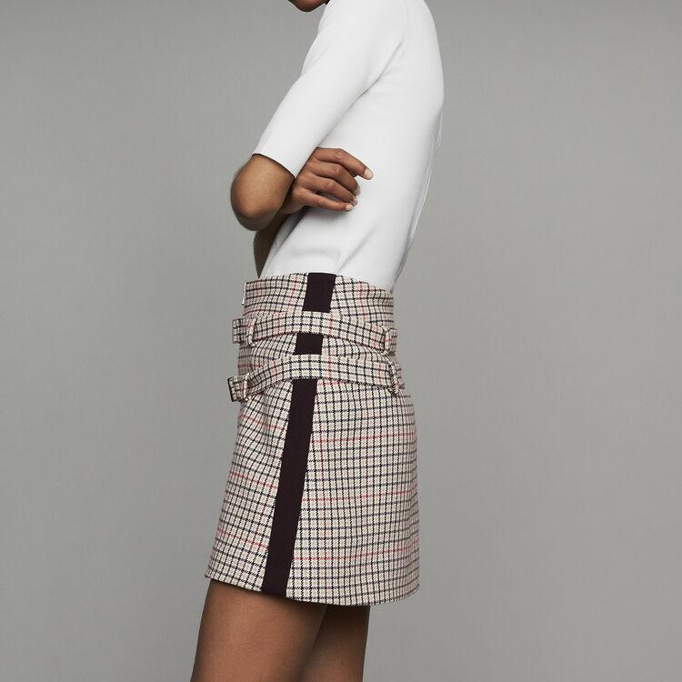 Plaid skort : Office girl color CARREAUX