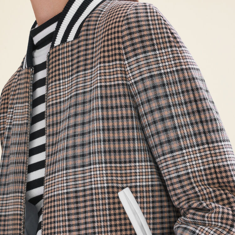 Teddy-style checked jacket : Jackets & Blazers color Jacquard