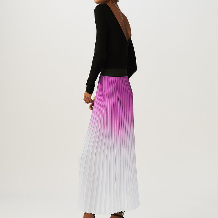 Pleated tie-dye skirt : Skirts & Shorts color Purple