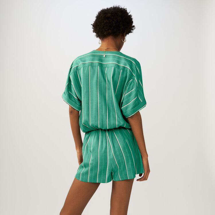 Striped romper : Jumpsuits color Stripe