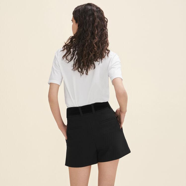 High-waisted crepe shorts : Skirts & Shorts color Black 210