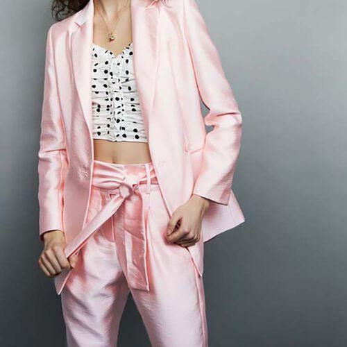 Satin blazer : Blazers color Pink