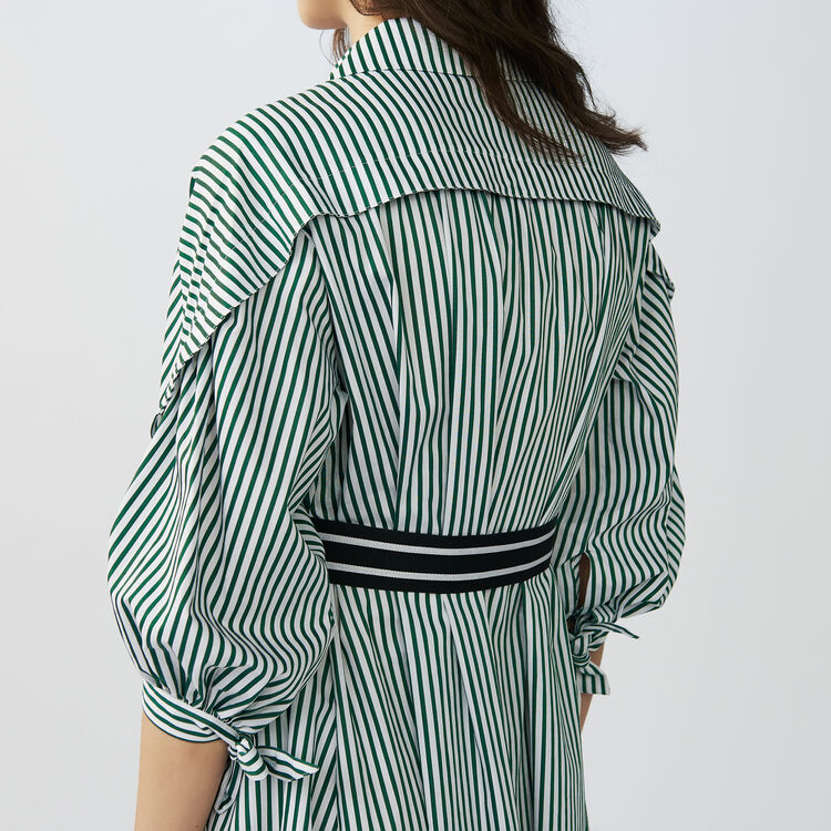 Deconstructed striped shirt dress : Dresses color Stripe