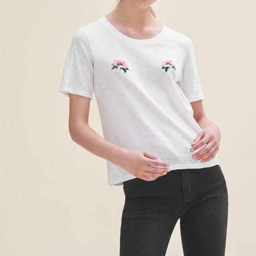 Embroidered T-shirt - T-Shirts - MAJE