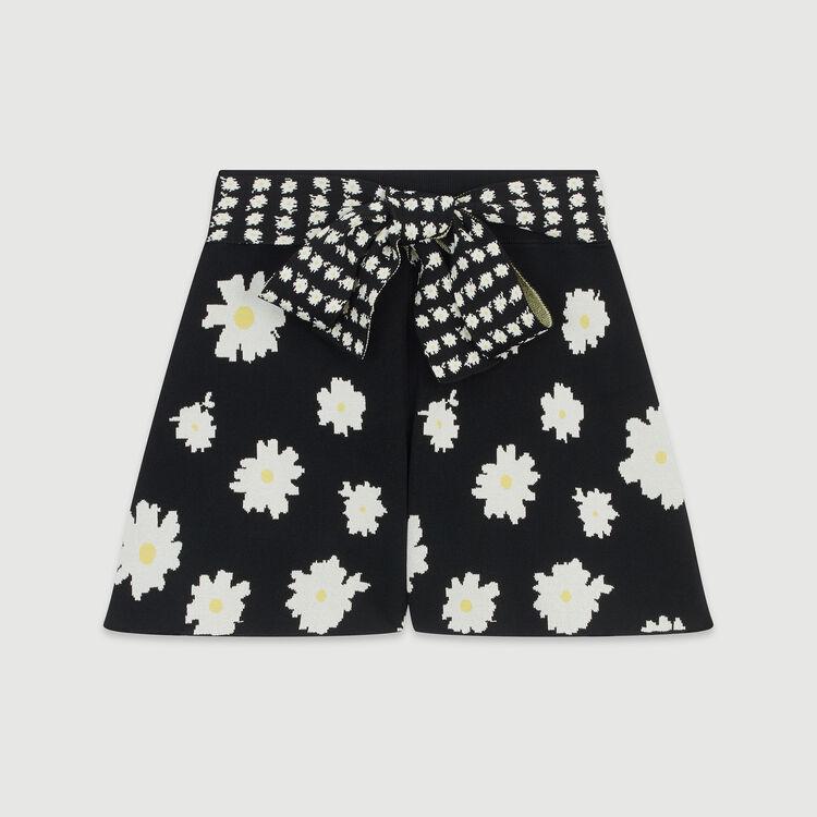Shorts tied at the waist : Skirts & Shorts color Jacquard