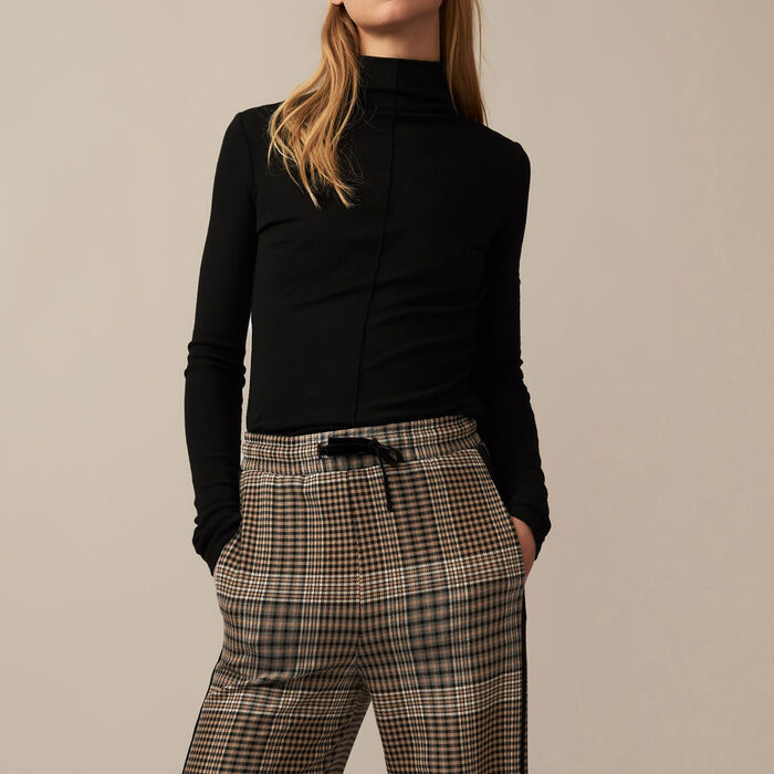 Checked jogging bottoms - Trousers - MAJE